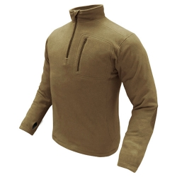 Mikina CONDOR 1/4 ZIP FLEECE TAN
