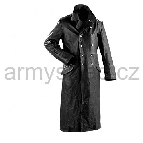 Kabát důstojnický kožený ČERNÝ 81616d1450b
